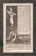 DP. VIRGINIE VANDEN BOSSCHE - °EYNE 1815 - + ST.MARIA-HOOREBEKE  1916 - Religion & Esotérisme