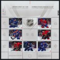 CANADA, 2013, #2669, NEW  NHL TEAM JERSEY  Stamp - 7 CANADIAN  TEAMS. SOUVENIR SHEET - Blocs-feuillets