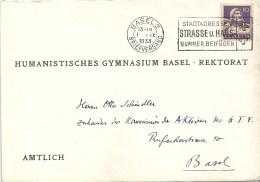"""Motiv Brief  """"Humanistisches Gymnasium, Basel""""            1933 - Schweiz"""