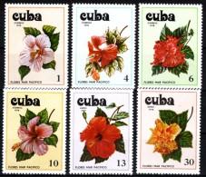 Kuba 1978  MiNr. 2356/ 2361  **/ Mnh   Hibiscusblüten - Pflanzen Und Botanik