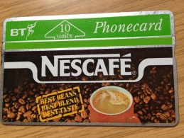 Very  Early British Telecom Card: 10 Units  Nescafe-  Used Condition Nr. 124C - Ver. Königreich