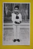 Petit Garçon - Little Little Boy In Navy Costume - Vintage Photography 1960s  Old Spanish Photo - Foto