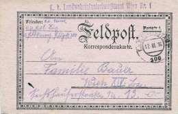 FELDPOSTKARTE Der K.k.Landwehrinfanterieregiment Wien Nr.1, Gel.1916 Nach Wien XIV - 1850-1918 Empire
