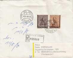 VATIKAN 1968 - R-Brief  2 Fach Frankiert Nach Wuppertal-Hahnerberg - Vatikan