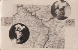 CPA  Militaria GUERRE Photo Général JOFFRE Et DAMADE Carte Géographique FRANCE BELGIQUE ALLEMAGNE - Guerra 1914-18