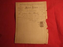 Adrien Dubois , Menuiserie à Nyons ( 26110). Facture De 1893. - 1800 – 1899