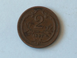 Autriche 2 Pfennig 1897 - Autriche