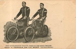 DANS LE CERCLE DE LA MORT THE SCKRAMSON´S TROUPE  CREATEUR DE LA ROUTE INFERNALE A MOTOCYCLETTE - Motos