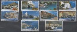 GREECE, 2008, MNH, ISLAND DEFINITIVES, DOLPHINS,TURTLES, BOATS, LANDSCAPES, 10v, - Other