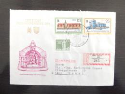DDR Germany 1984, 1985 & 1986 3 FDC Auf R-Brief Leipziger Frühjahrsmesse Einschreiben Berlin R Letter - DDR
