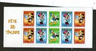 Bande  Carnet  3641 FËTE Du Timbre 2004 (non Pliée)Disney - France