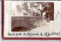 SUR LE PONT DE REGANAT  LE 18 JUILLET 1915    VAR   VERS PIERREFEU  PHOTO ANIMEE - Lieux