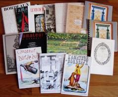 LOT DE 15 DOCUMENTS,BROCHURES,CATALOGUES ET PLAQUETTES PUB. VINS DE BORDEAUX - Tourism Brochures