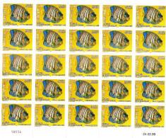 MAYOTTE - Feuille Entière Non Pliée - Timbre N° 73 Pygolytes Diacanthus (poisson Ange Royal) - Rare - Mong-tzeu (1906-1922)