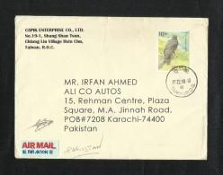 China Taiwan Air Mail Postal Used Cover Taiwan To Pakistan Eagle Birds Animal - Taiwan (Formosa)