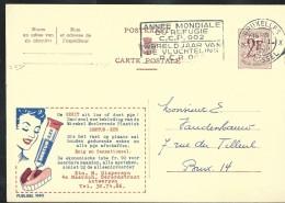 Publibel Obl. N° 1690 ( DENTUR-EZE  Colle Pour Dentiers ) Obl: Bxl 1960 + Flamme (d'actualité !!!) - Publibels