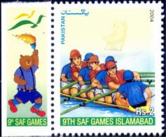SPORTS-RAFTING-9th SAF GAMES-PAKISTAN-2004-MNH-B9-564 - Rafting