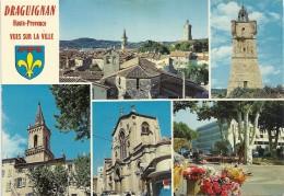 .CPM. DRAGUIGNAN - HAUTE-PROVENCE - (multi)VUES SUR LA VILLE .. LA VIEILLE VILLE ET SES MONUMENTS - Draguignan