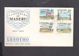 Lesotho, Centenary Of Maseru, First Day Cover,MASERU 11 III 69 , C.d.s. - Lesotho (1966-...)