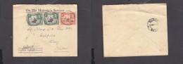 O.H.M.S. Uganda Protectorate Envelope, Franked 20c, ENTEBBE 1 MY 39 C.d.s. > KLOOF - Kenya, Uganda & Tanganyika