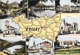 Carte Du Département Des Vosges - Multivues: Epinal, Gérardmer, St Dié, Vittel... - Edition Combier - Landkarten
