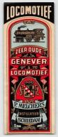 """05281  """"P. MELCHERS - DISTILLLATEUR - SCHIEDAM - ZEER OUDE GENEVER - LOCOMOTIEF"""". ETICHETTA ORIGINALE - Etichette"""