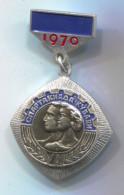 SPARTAKIADA 1970. Sport, Soviet Union Russia, Vintage Pin Badge, D 50 X 30 Mm - Autres