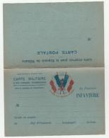 CPFM Infanterie Drapeaux Avec Réponse - WW I - Guerre 1914 - Marcophilie (Lettres)