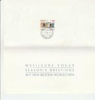 Carte De Voeux ONU Genève 1987 UNO - 2 Scans - Office De Genève