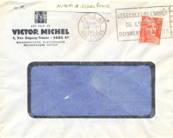 PARIS 43 RUE LITTRE OM FLIER 6.V 1952 LES ECOLES DE L´ARMÉE / DE L´AIR VOUS / DONNENT UN METIER - Maschinenstempel (Werbestempel)