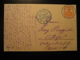 1916 KREUZWALD Lothringen To Osterfeld METZ Gepruft Censor Censored Cancel WW1 Militar Post Card Germany Deutsches Reich - Briefe U. Dokumente