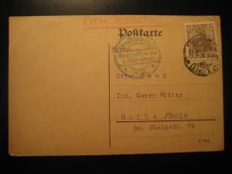1916 STRASSBURG To Halle Saale Gepruft Censor Censored Cancel WW1 Militar Post Card Germany Deutsches Reich - Briefe U. Dokumente