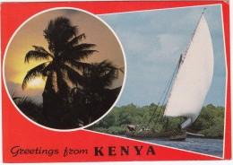 Kenya: Greetings From Kenya - Sailingboat - Kenia