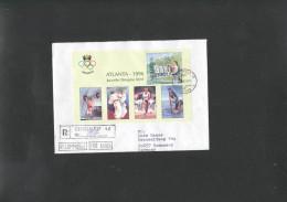Olympics  Cover - Lettre Of Moldova Registered - Summer 1996: Atlanta