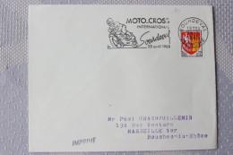 50 Manche - Flamme 1965 - SOURDEVAL - Moto Cross Intenational 25 Avril 1965 - Poststempel (Briefe)