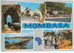 Kenya: Mombasa - Multiview: With 'Shah Stores Ltd.', Fruit Market  Etc  - (+ Stamp/timbre) - Kenia
