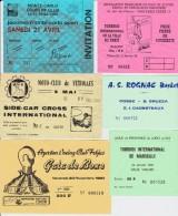 Ticket Entrée Tournoi De La Ville De Paris JUDO 12 Janvier 1986 (Canu, Vachon, ...) - Tickets - Vouchers