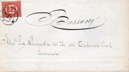 1875  LETTERA CON ANNULLO BASSANO VICENZA - 1861-78 Vittorio Emanuele II
