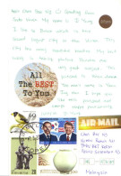 18A : Korea Bird, President Jimmy Carter USA, Porcelain Vase, Sulpture Stamps On Student Postcard - Korea, South