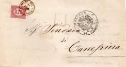 1876  LETTERA CON ANNULLO SORIANO NEL CIMINO VITERBO - 1861-78 Vittorio Emanuele II
