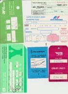Petit Lot Hétéroclite Carte Embarquement Etc... Avions UTA, Air France, Air Portugal, Olympic Airways, Tunis A Années 80 - Billets D'embarquement D'avion