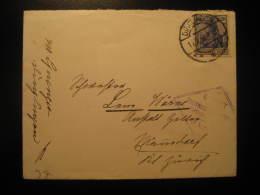 1917 DINGLINGEN ? To Mannedorf Switzerland Gepruft Censor Censored Cancel WW1 Militar Cover Germany Deutsches Reich - Briefe U. Dokumente