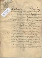 VP4306 - BEAUNE - Acte Entre Mrs PIGNOLET Avocat & PROST - ROBOAM Echange De Maisons  à LEVERNOIS - Manuscripts