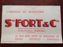 Buvard Fort Et Cie à Bordeaux Fabrique De Bijouterie - Buvards, Protège-cahiers Illustrés