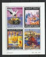"""Maroc YT 1248 à 1251 En Feuillet """"Année Du Maroc En France """" 1999 Neuf** - Morocco (1956-...)"""