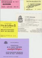 Petit Lot Hétéroclite Obsèques Gaston Deffere, Fête De La Rose 81, Politique PS, ,Pt Train De La Bonne Mère Et Promenade - Old Paper