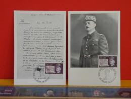 FDC Carte Maxi - Général Delestraint, Chef Des Armée Secrète - Paris - 16.10.1971 - 1er Jour,lot 2 Cartes - Cartes-Maximum