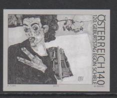 Austria Black Print - Schwarzdruck Mi 2874 120th Birthday Of Egon Schiele - 2010 - 1945-.... 2nd Republic
