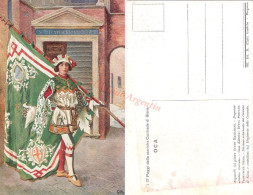 Cartolina Postale PAGGI DELLE STORICHE CONTRADE DI SIENA - OCA - Guido Masignani - Non Classificati