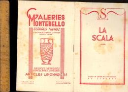 Programme Cinéma LA SCALA Lyon 18 Rue Thomassin Couverture En Buvard 1949 Film L'école Buissonnière / Publicités - Cine & Teatro